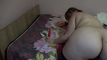 Anal masturbation with different sex toys Mature BBW shakes her fat booty and fucks asshole