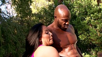 Stacked Latina Initiates 3-Way with Hung Black Fitness Coach. Interracial Big Tits FFM Workout!