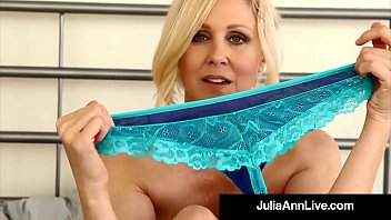 Big Titted MILF Julia Ann Models Her Lingerie For you!