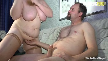 AMATEUR EURO - BBW Wife Sucks And Fucks For The First Time On Camera - Iris K.