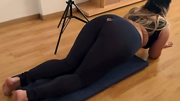 Fucking The Most Perfect Butt Through Leggings