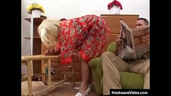 Hey My Grandma Is A Whore #23 - Young guy fucks a mature cleaning lady