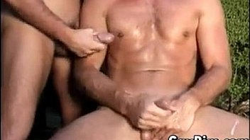 Two Handsome Guys Masturbate Together