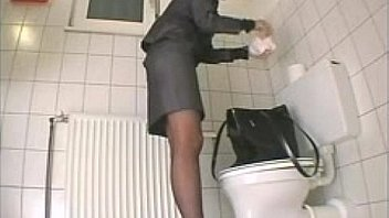 I wanted to caress. Hidden camera in the toilet