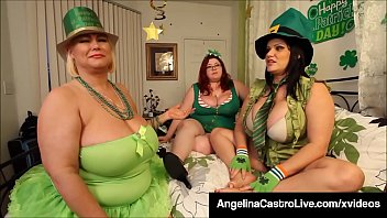 Full figured babes Angelina Castro, Samantha 38g & Trinity Guess dildo bang their sweet pussies, all dressed up for St. Patty's this March! Full Video & Angelina Live @ AngelinaCastroLive.com!