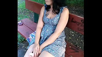 Sexymandy wank her massive humid fur covered labia out of doors on public position. PREVIEW