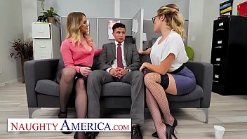 There's a new guy in the office that definitely catch the eyes of Katie Kush and Kenzie Madison