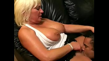 Mature fair-haired busty lady Dana Hayes  loves getting her pussy drilled after teasing around a hug hard black tool