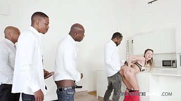 Black Cock Hungry Paulina Soul gets all her pretty white holes stuffed by 4 huge ebony dicks in this crazy interracial orgy gone wild with DP's & facials! Full flick & 100's more at