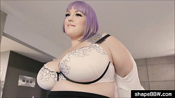 Obese BBW office worker blows Boss and gets fucked hard