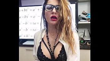 Hot Teacher in Glasses Deep Sucking Dick and Doggy Fucking - Facial