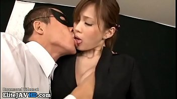 Jav beauty in stockings giving passionate blowjob