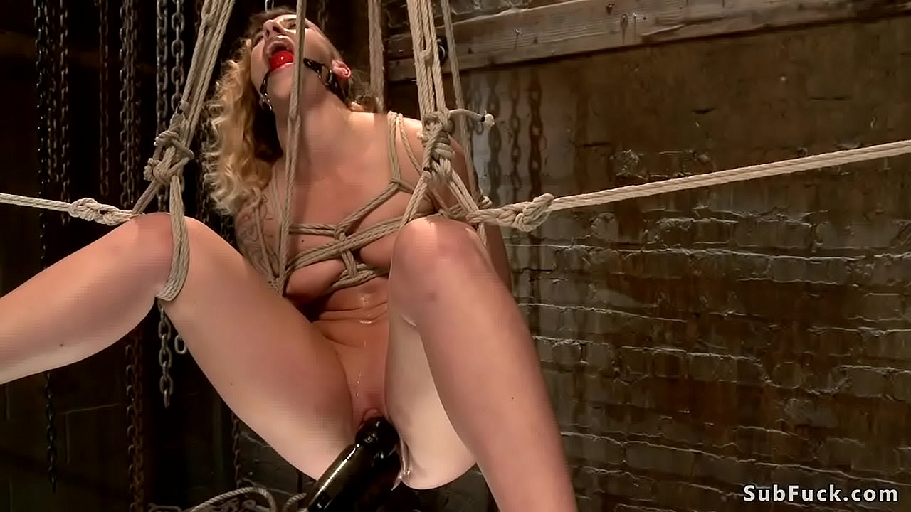 Horse gets fucked with a dildo Brunette Andre Shakti Is Tied In Doggy Style Position Over Wooden Horse And Gets Ass Hooked And Pussy Fucked With Dildo On A Stick Then Suspended On Hogtie Xnxx Com