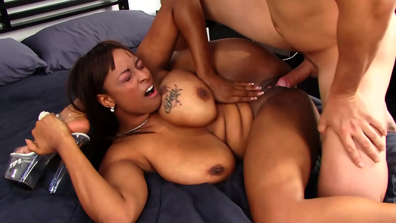 Big Boob Ebony Interracial