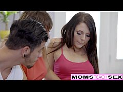 MomsTeachSex - Mom Fucks Step Son & GF To Keep Secret