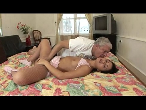 Old Man Young Girl Threesome