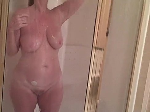 Voyeur women in the shower