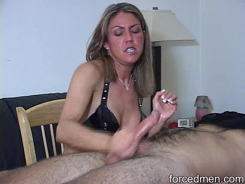 Housewife forced to suck cock