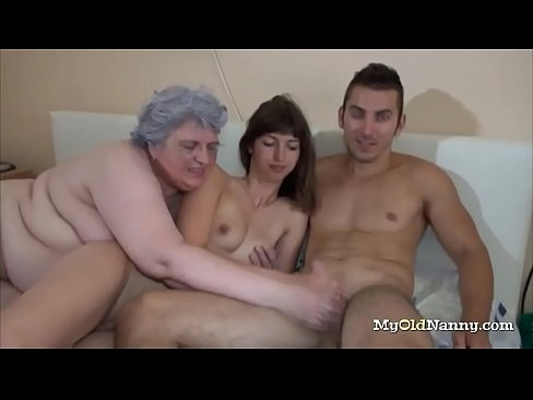 Old German Couple Threesome