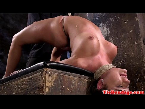 Passionate brunette rubbed body butter and have anal