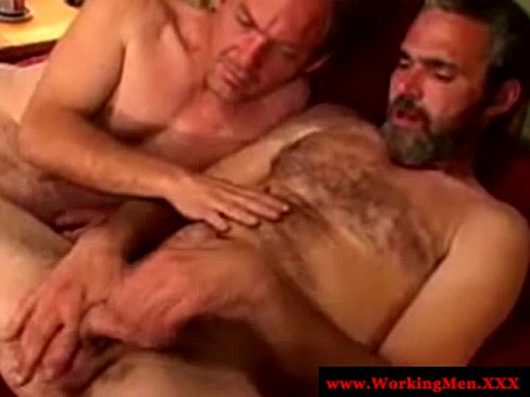 Mature redneck bears jerking off