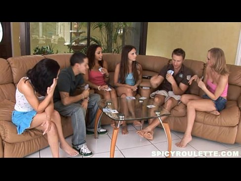 Teen strip poker sex video
