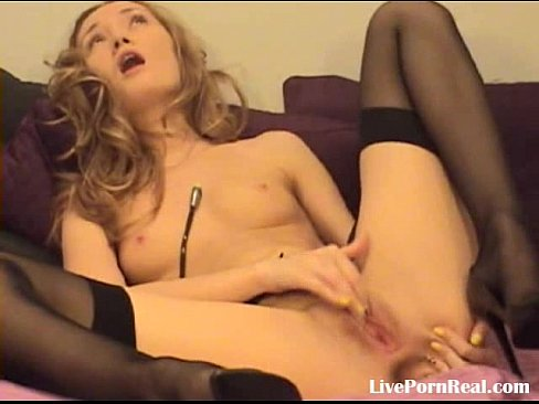 Blonde Fingering Her Pussy