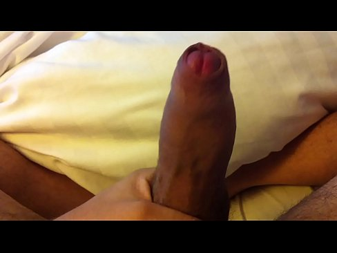 Playing with uncut cock
