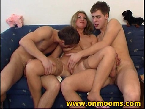 Milf with two boys