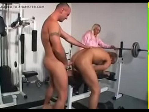 Gay sex in a gym
