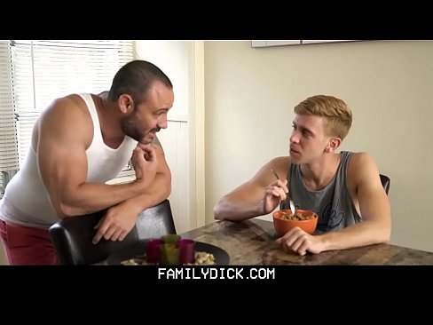 Familydick older tattooed muscle daddy coaches virgin step