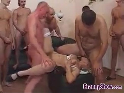 Get grandma to the gangbang want
