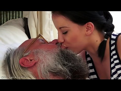 Old Man Young Girl Kissing