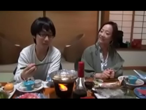 Asian Japanese mother gets hot Fuck by her Nerd son