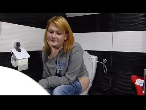 Poops urinal girl in