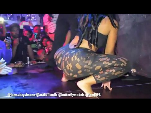 Girls twerking the black club in