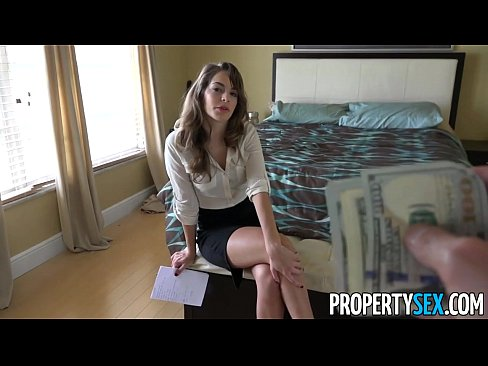 Propertysex sexy young real estate agent fucks to get listing