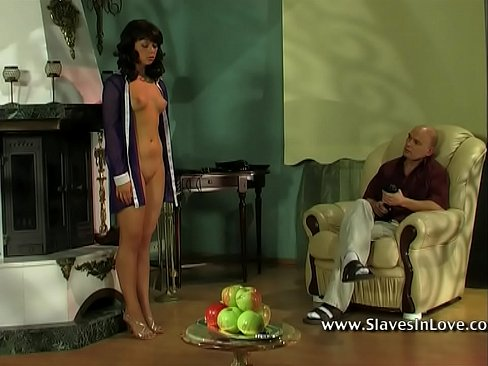 Submissive slave satisfy his master