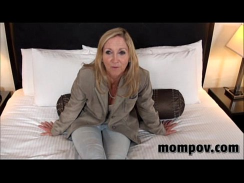 Tan blonde milf on mom pov