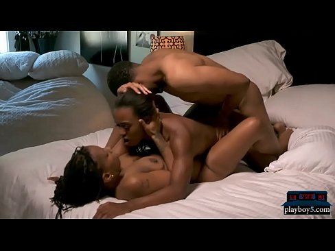 Amateur Black Freak Threesome