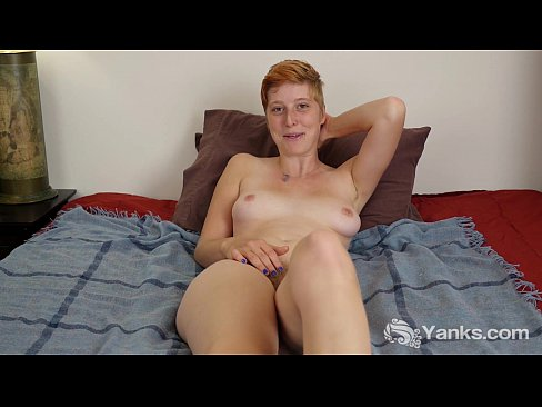 Red Haired Aurora Masturbating Her Hairy Twat