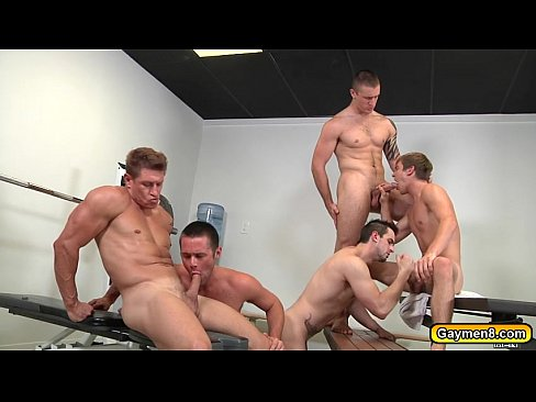 Gay fuck in gym
