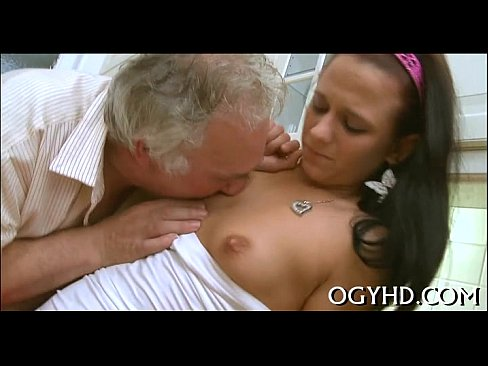 Young Girl Blows Old Man