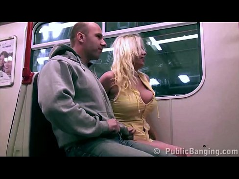 Filming boobs in playing subway