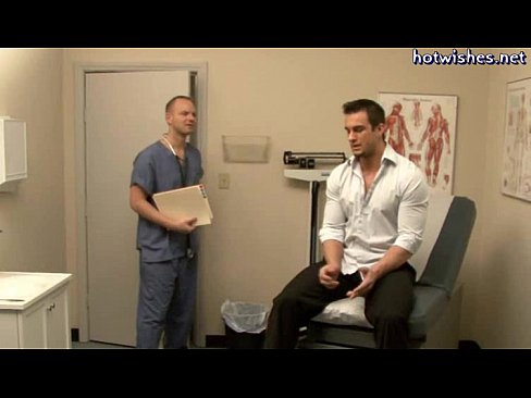 image Naked male doctor and patient gay he took