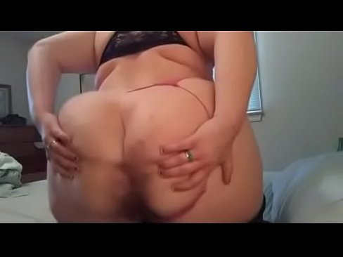 Cute Fat Woman talks dirty and shows asshole, ass spreading, JOI.