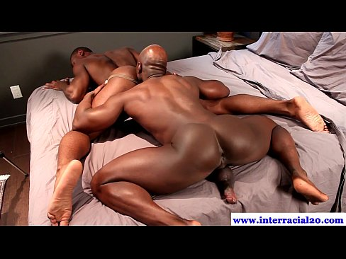 Horny Ebony Stud Fucking A White Hunks Tight Ass