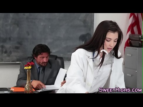 Mry sexy schoolgirl sucks a big cock for cumshot