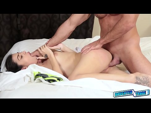 Sweet hot chick Kara Faux loves hard pole to fuck