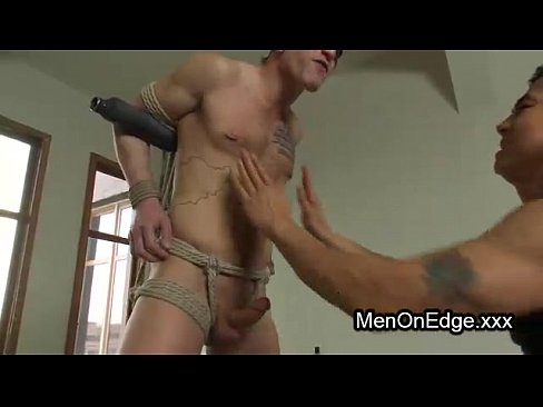 Jerked off and fucked with dildo